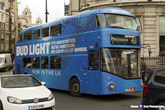 Wrightbus NRM NBFL - LTZ 1286 - LT286 - Bud Light - Marylebone 453 - Go Aheadd London - London 2017 - Steven Gray - IMG_8866