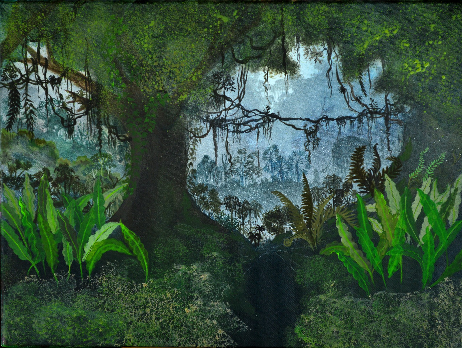 jungle underpainting