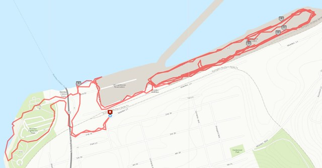 Today's awesome walk, 6 miles in 2:03, 13,334 steps