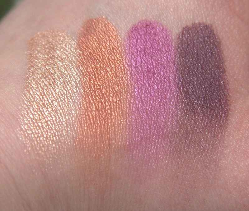 Make Up Store Moon Shadow swatches