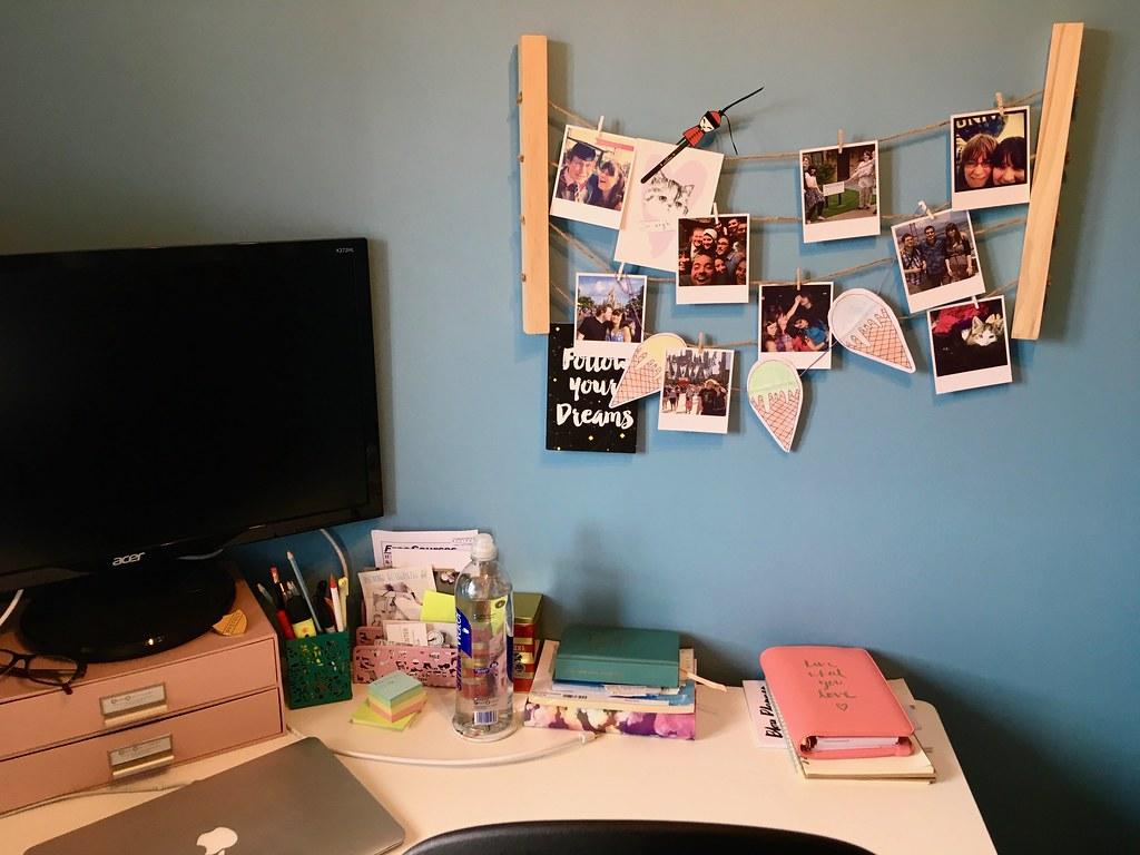 office reveal desk closeup