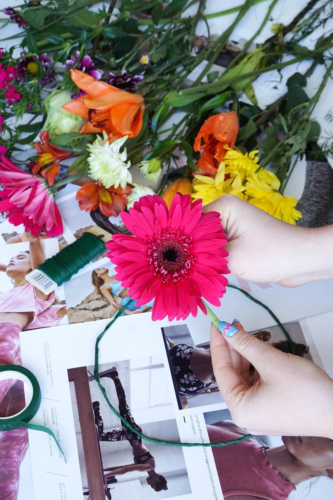 How to Make a Flower Crown Easy DIY Real Flower Crown Tutorial