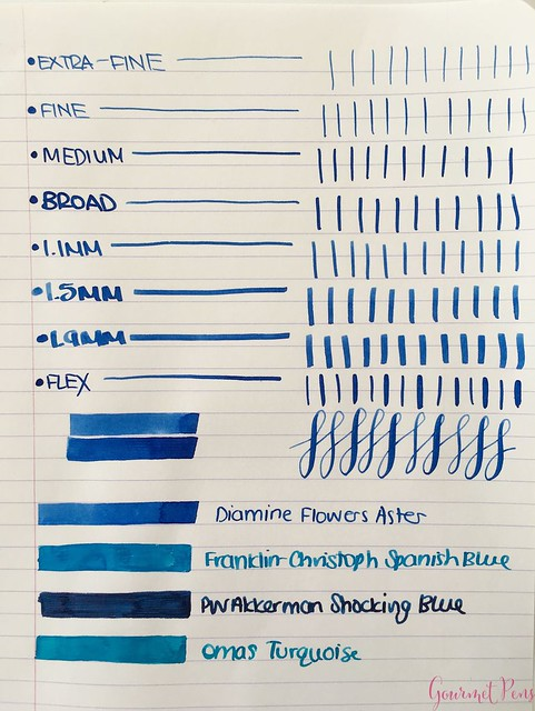 Ink Shot Review Diamine Flowers Aster @AppelboomLaren  2