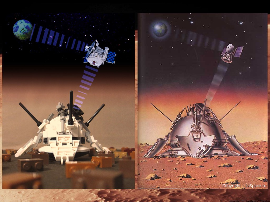 LEGO MARS3-The First Mars Lander-06-15-Compare-Orbiter and ...