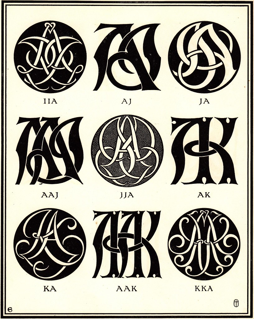 Monograms & Ciphers by AA Turbayne 1912 c | (scanned by me ...