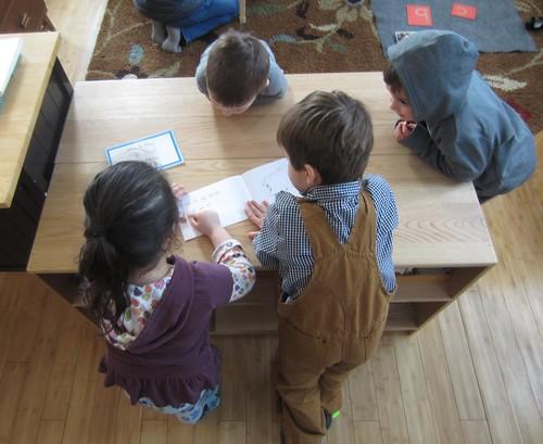 teaching a friend to read