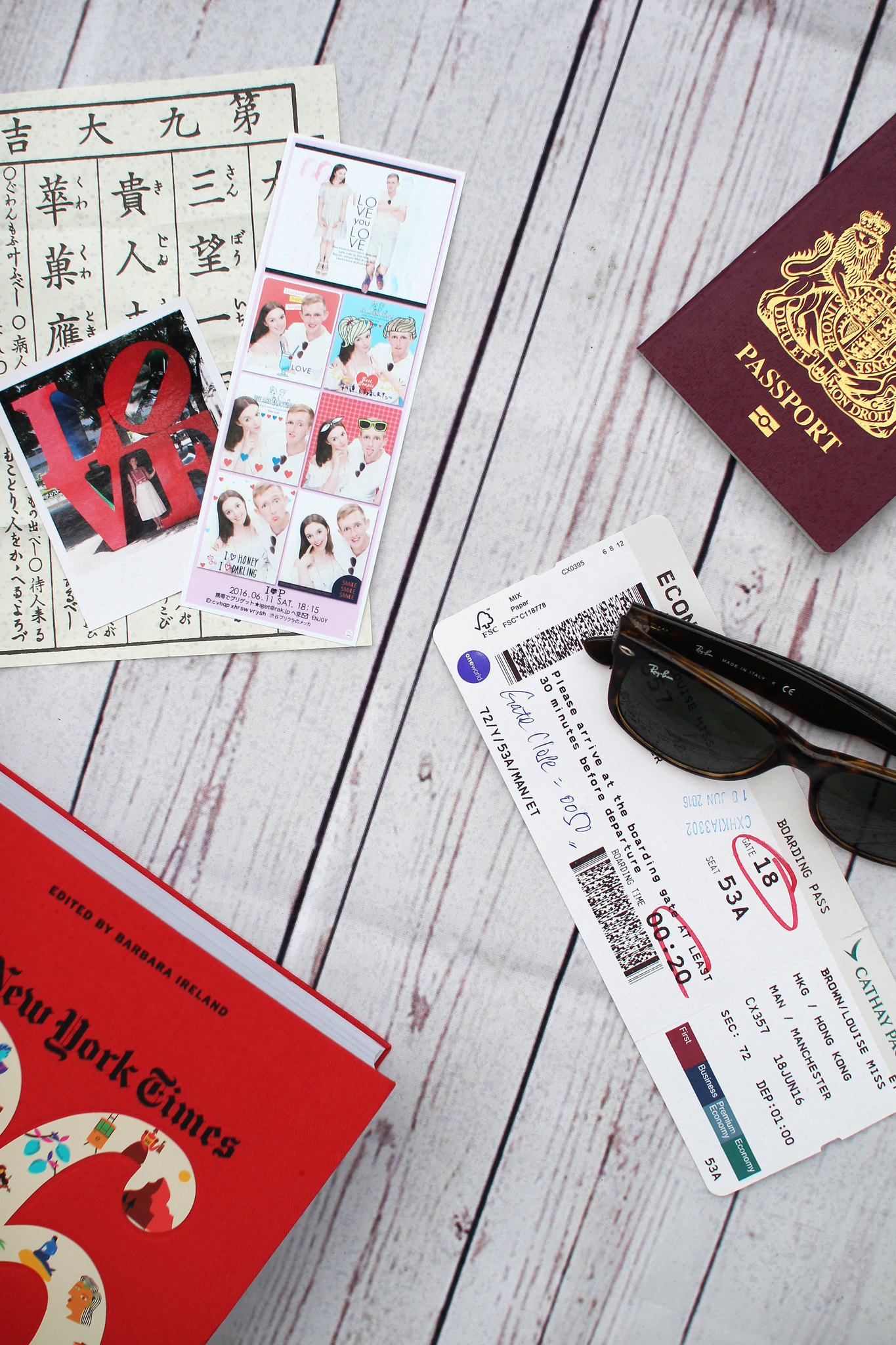 Travel experience blogger UK flat lay