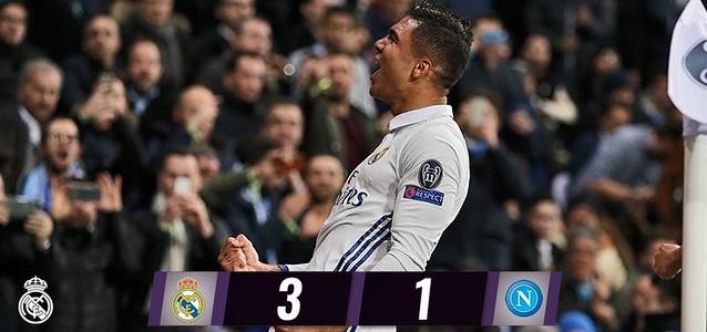 Champions League - Octavos de Final (Ida): Real Madrid 3 - SSC Napoli 1