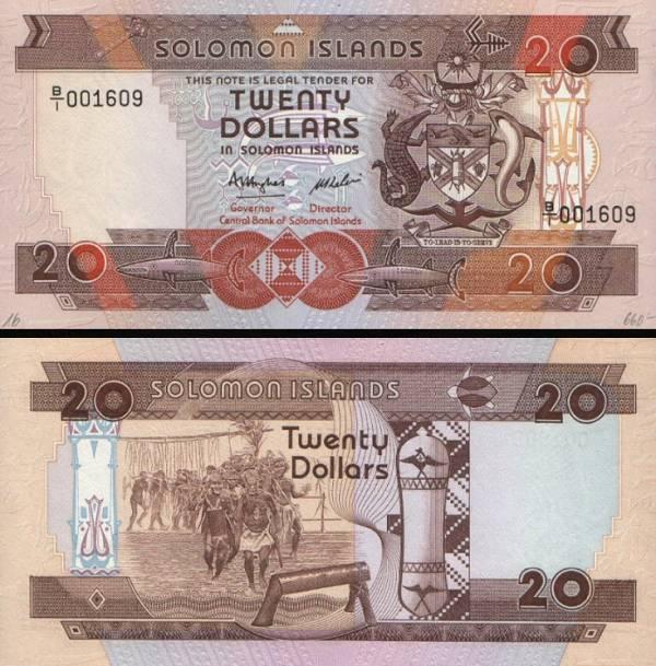 20 Dolárov Šalamúnove ostrovy 1986, P16a