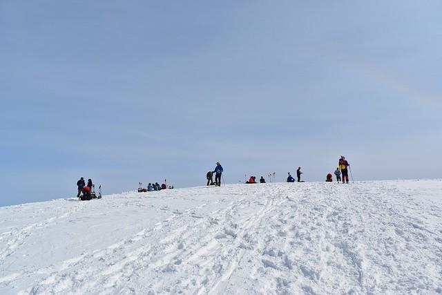 冬の守門岳・大岳山頂