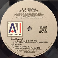 L.J. JOHNSON:L.J.'S LOVE SUITE(LABEL SIDE-B)