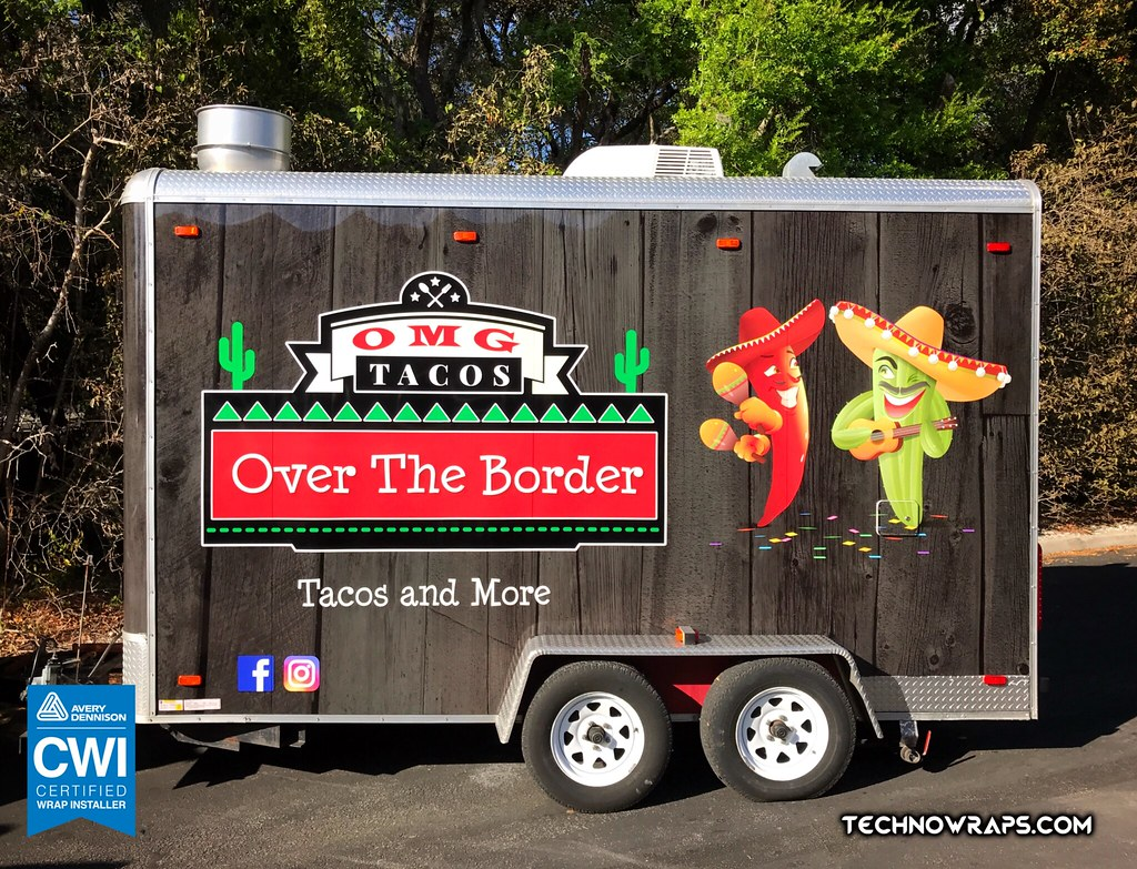 Food Trailer Wrap Wrapped In Custom Vinyl Design In Orland