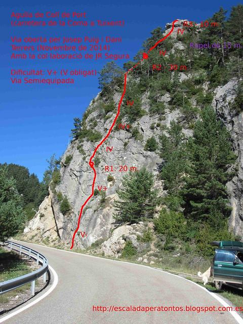 La Vall de Lord -09- Sector Coll de Port -02- Subsector Agulla del Coll del Port-03- Izquierda -Via de l'Arp