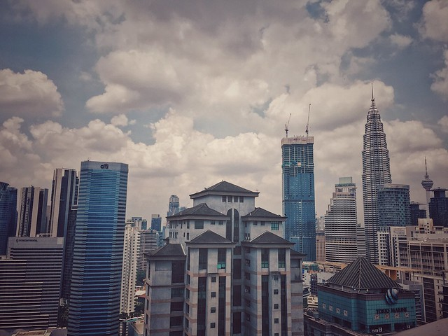 The Kuala Lumpur Skyline viewed from Roofino Skydining at Trillion Plaza, KL