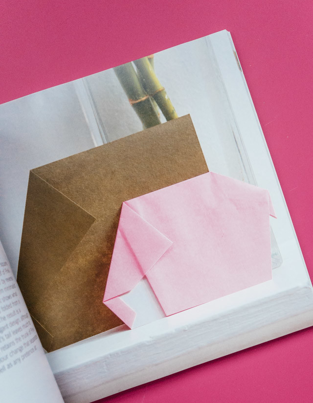 how to fold origami | pink elephant