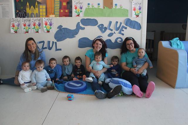 En Novaschool Juan Latino celebramos la fiesta del azul en bebés!! Aprendemos jugando!