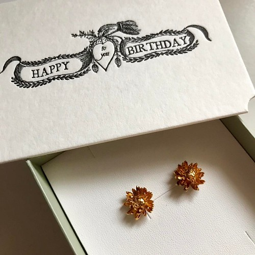 I have been eyeing these lovely earrings for some time; to my delight, Ryan gifted them to me for my birthday today!