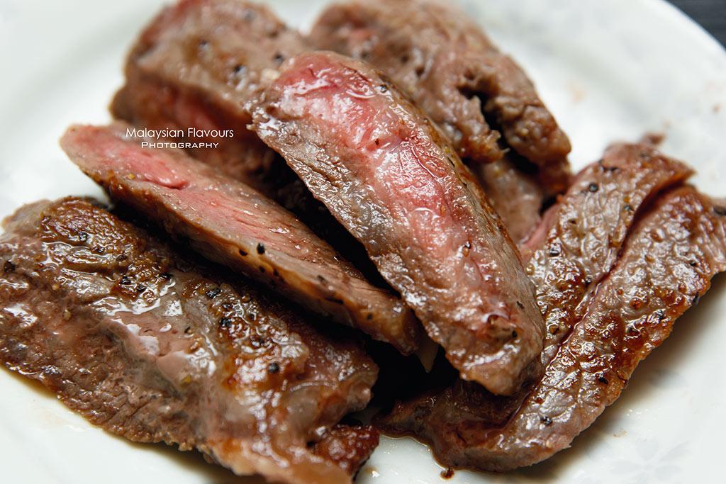 Australian Wagyu Beef on Heated Himalayan Rock Salt