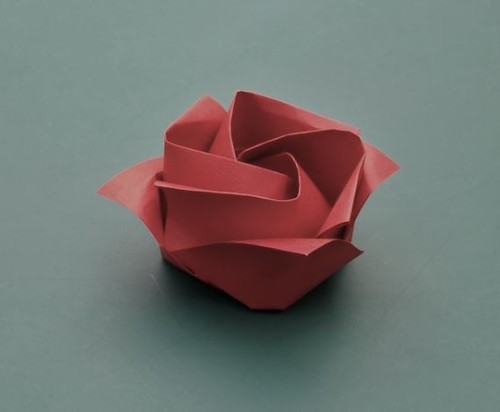 Origami Rose At The Last Bos Convention I Sat By Wayne Br Flickr
