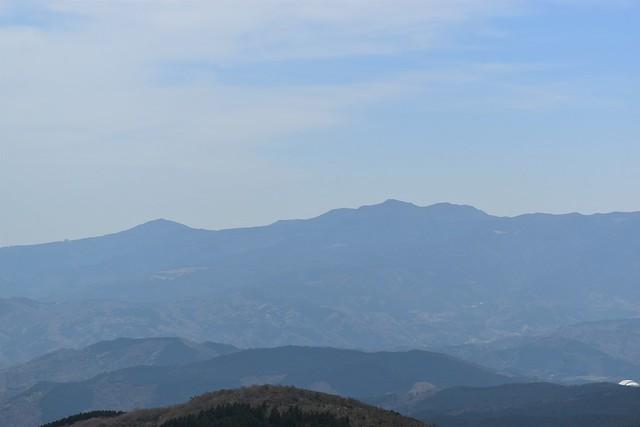 達磨山から望む天城山