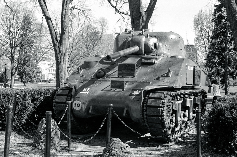 Sherman Tank in the Park