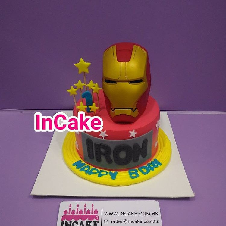 iron man iron man birthday InCake 3D