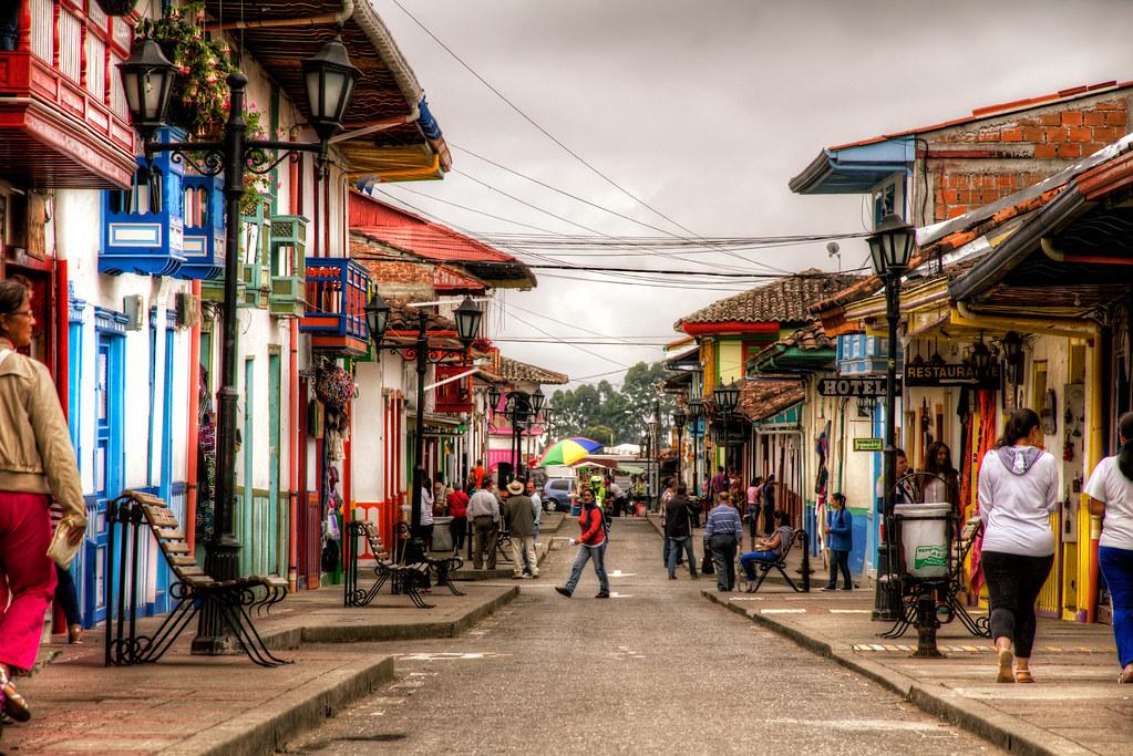Salento Quindio Colombia Street In Salento In Quindio