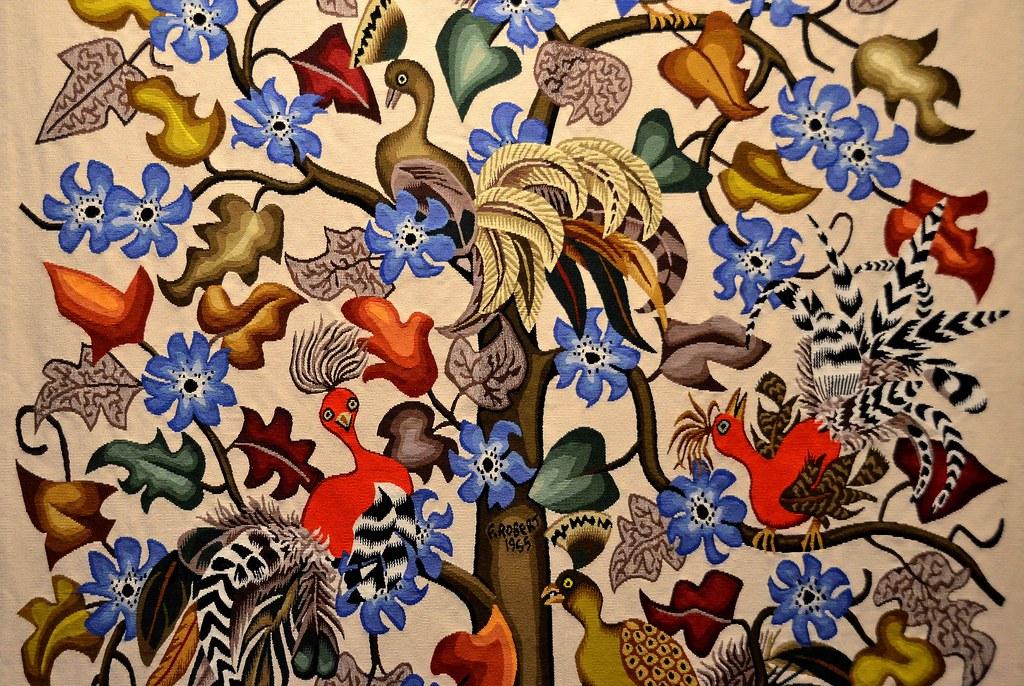 Tapisserie de dom robert les oiseaux rares carton de 19 - Galerie nationale de la tapisserie beauvais ...