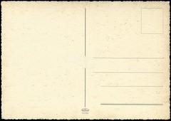 Postcard Back Vintage Serrated Edge 2