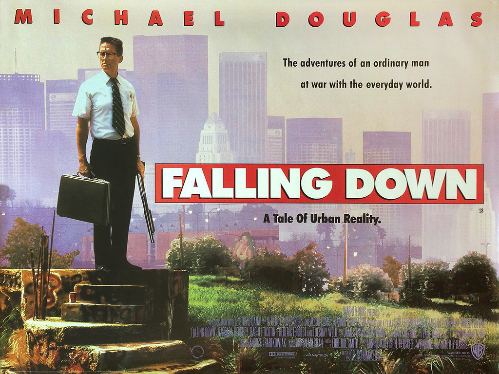 falling-down-quad-poster | Original British cinema DS quad p ...