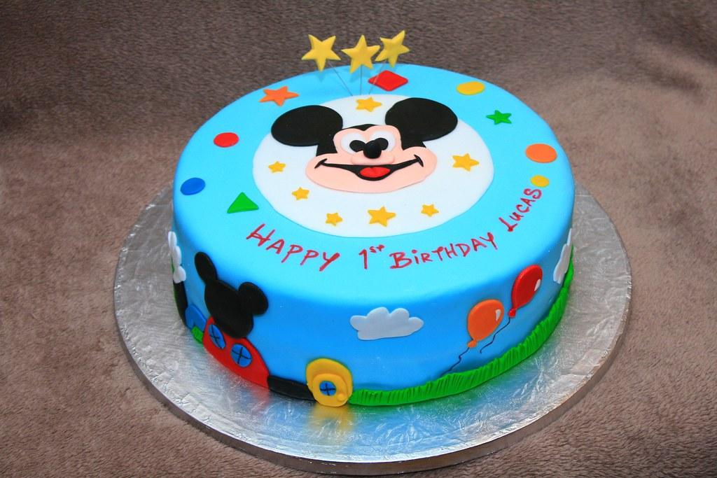 Mickey Mouse Cake Smash Cupcake