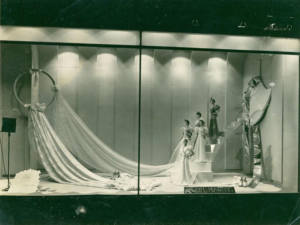 shop window display of wedding fabrics 1940 b 69511 one