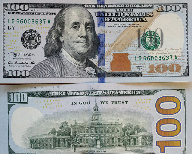 Impeccable image inside printable 100 dollar bill front and back