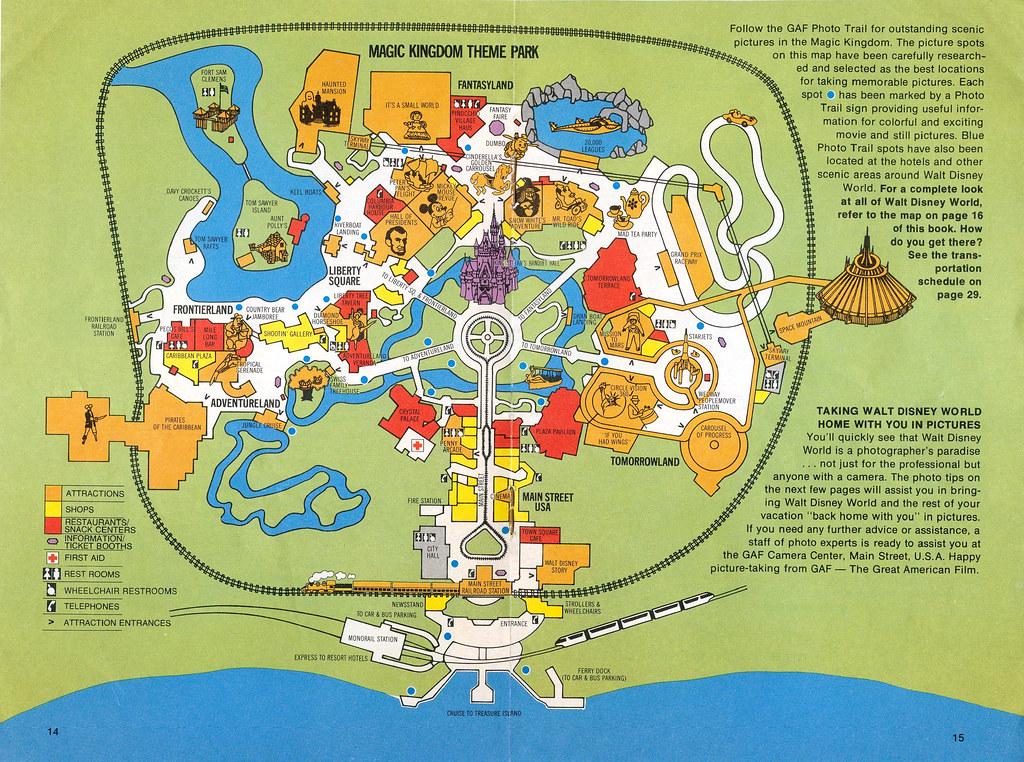 1977 Walt Disney World Guide 09 - Magic Kingdom map | Flickr