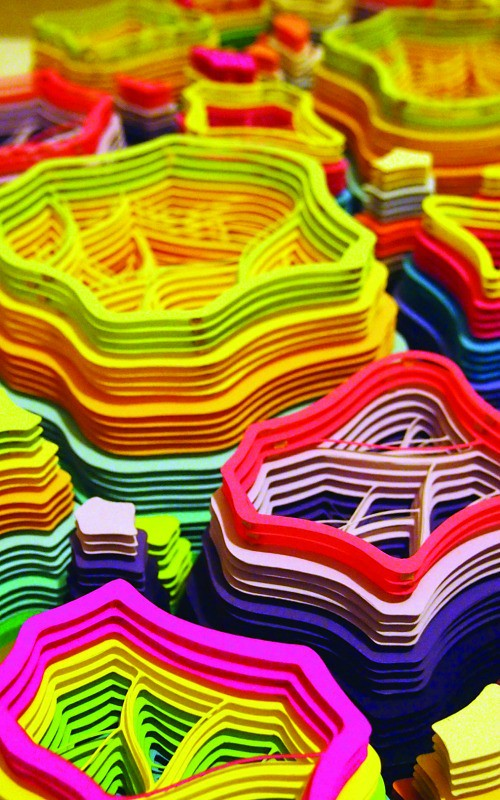 Paper Art Exhibit - Charles Clary Meticulous Excavations Movement #3 (detail)