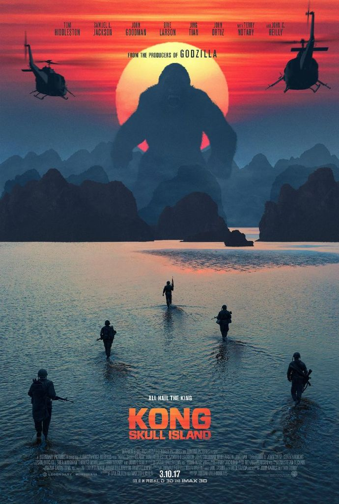 「キングコング 髑髏島の巨神」のポスター