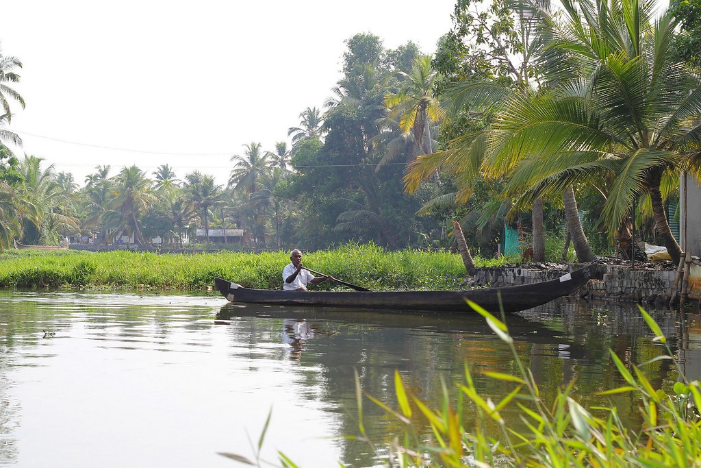Kerala backwaters asuntolaiva