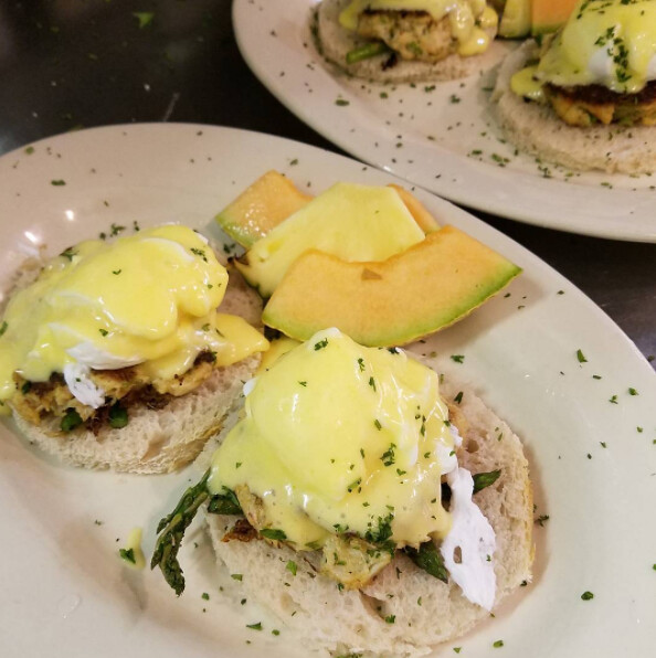 Wildflour Cafe at Towers - Eggs Chesapeake