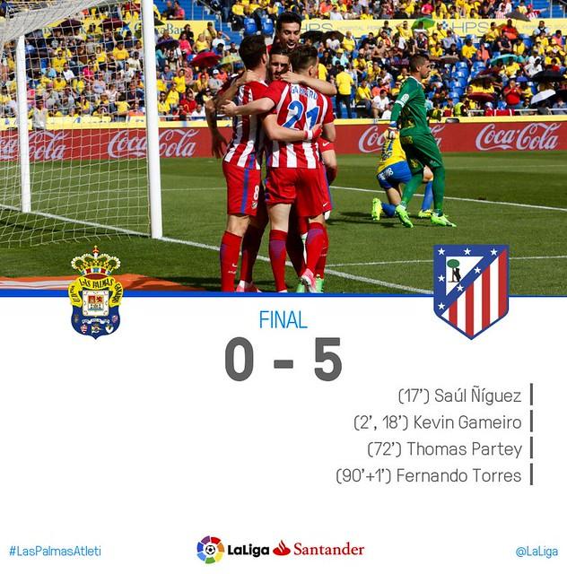 La Liga (Jornada 35): UD Las Palmas 0 - Atlético de Madrid 5
