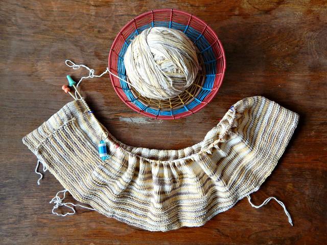 Второе начало полосатого летнего свитера | HoroshoGromko.ru