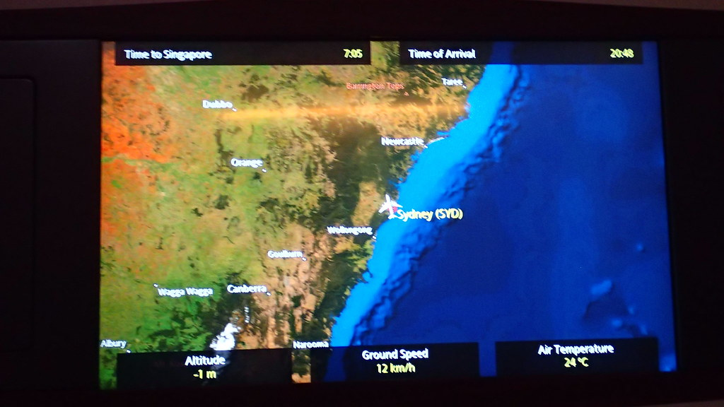 Review Of Singapore Airlines Flight From Sydney To Singapore In First - The crew us map