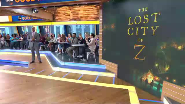 Robert Pattinson on Good Morning America to promote The Lost City of Z , 11.04.2017