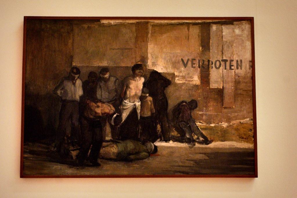 """Alberto Sughi """"Eccidio di partigiani"""" au Musée Mambo de Bologne."""