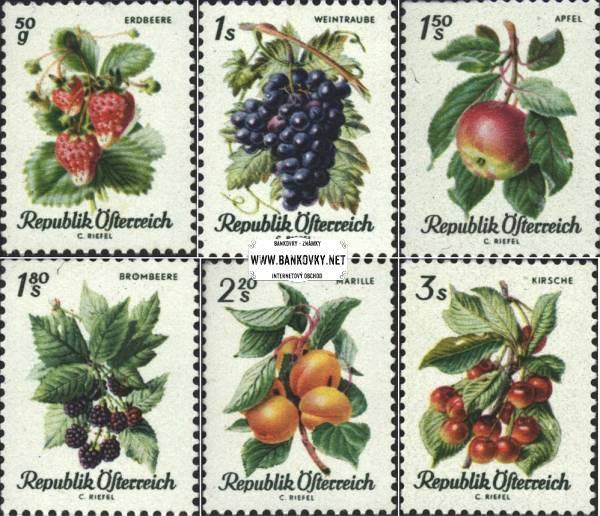 Známky Rakúsko 1966 Ovocie, nerazítkovaná séria