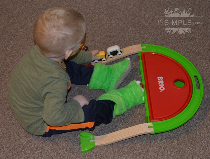 BRIO trains and trucks on The SIMPLE Moms
