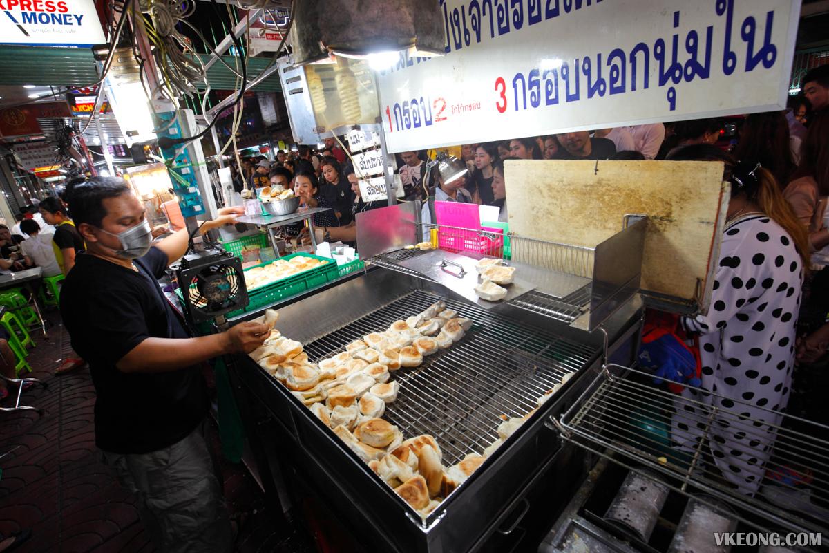 Charcoal Toast Stall Bangkok Chinatown