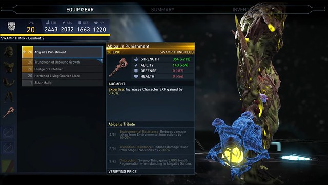 Injustice 2 - Swamp Thing Gear
