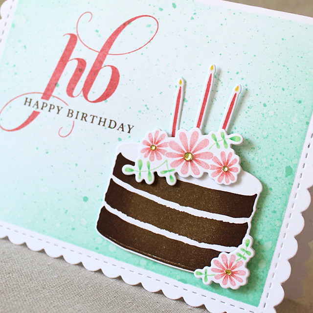 Happy Birthday Cake Close Up