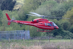 G-ORDH -  2006 build Eurocopter AS355N Ecureuil II, departing from the Heliport at Barton