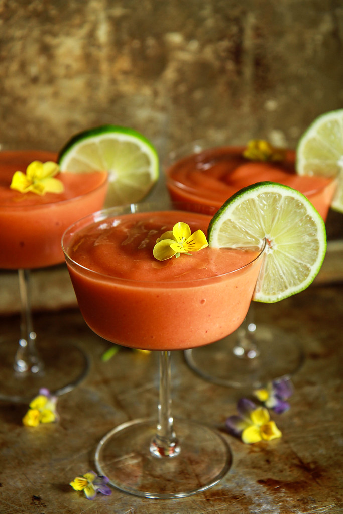 Frozen Strawberry Mango Daiquiri from HeatherChristo.com